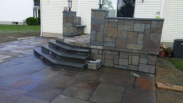 Stone Patio Steps - A 1 Maintenance LLC Glenmont, NY Stonework Gallery Albany NY