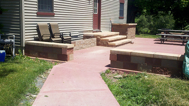 Concrete Patio and Block Work